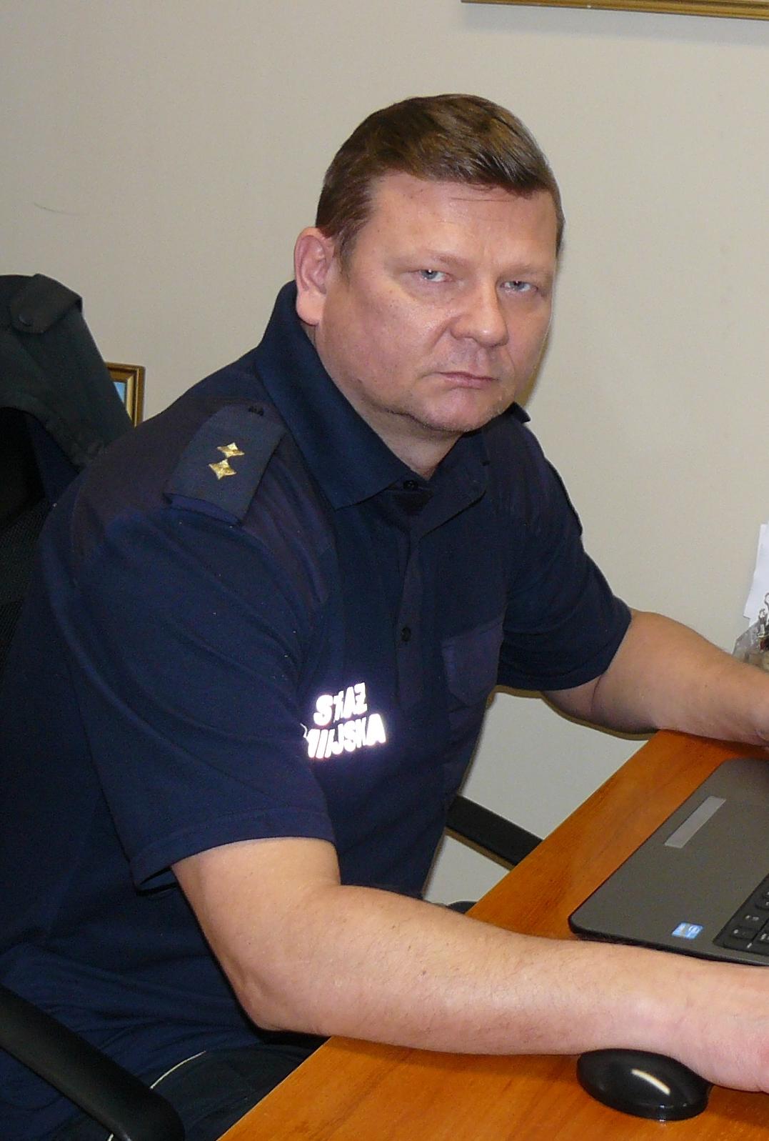 strażnik miejski Artur Włodarczyk