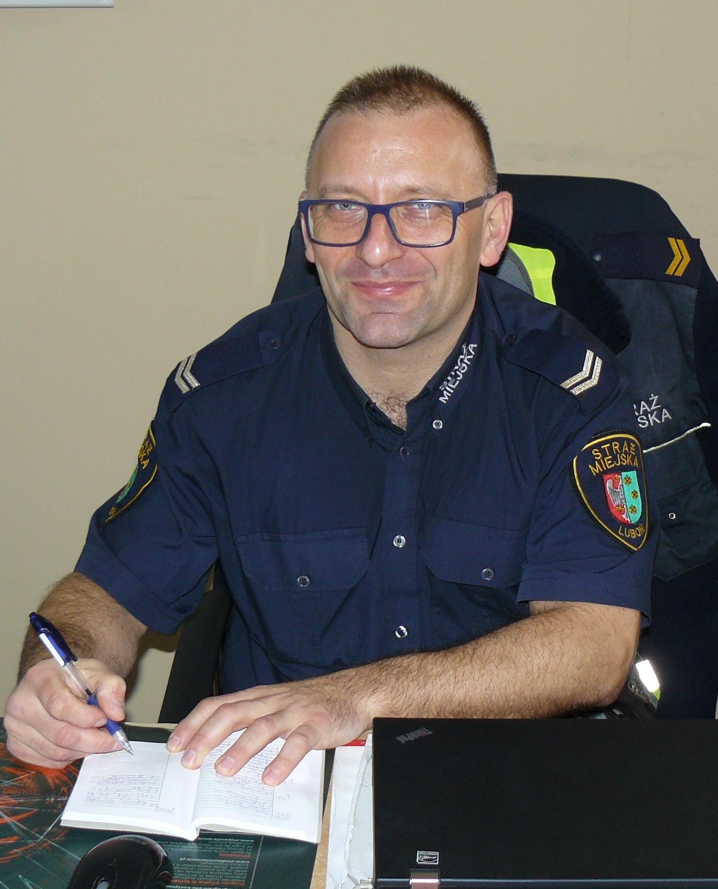 strażnik miejski Jarosław Rajewicz