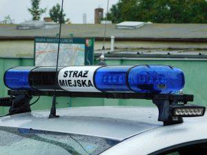 Zdjęcie przedstawia samochód Straży Miejskiej